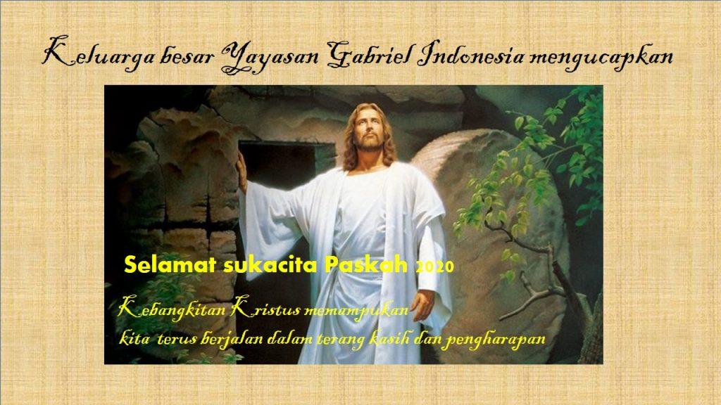 Selamat Paskah 2020 Gabriel Indonesia